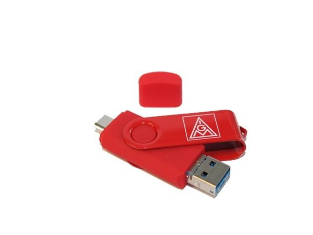 USB 3.0.Stick on the go                             mit 8 GB und 3 in 1-Smartphone-Funktion