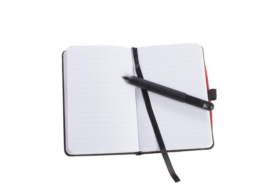 Notizbuch DIN A6 und Kugelschreiber