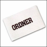 Ordner-Armbinde, weiß