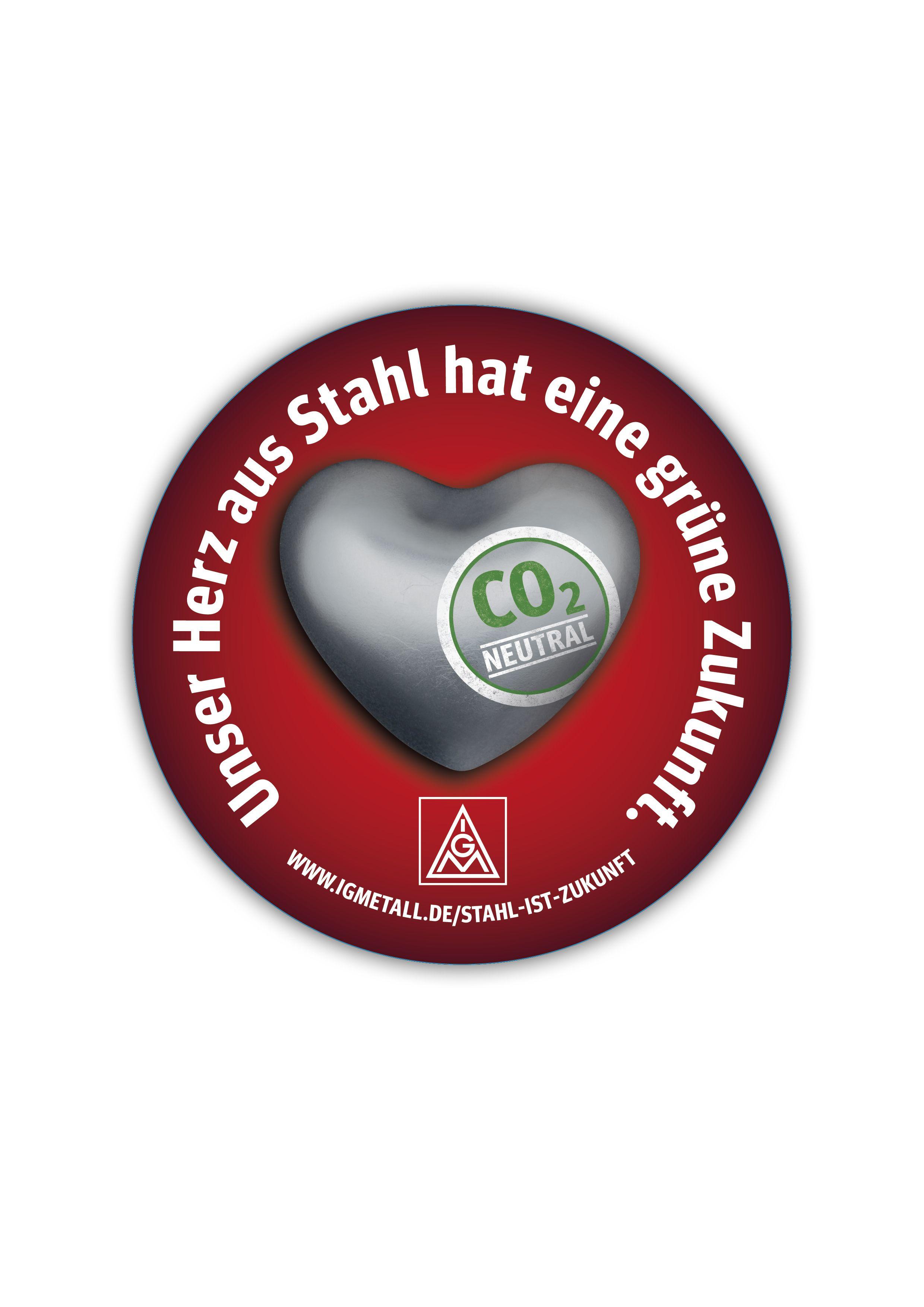 Static-Sticker - Herz aus Stahl