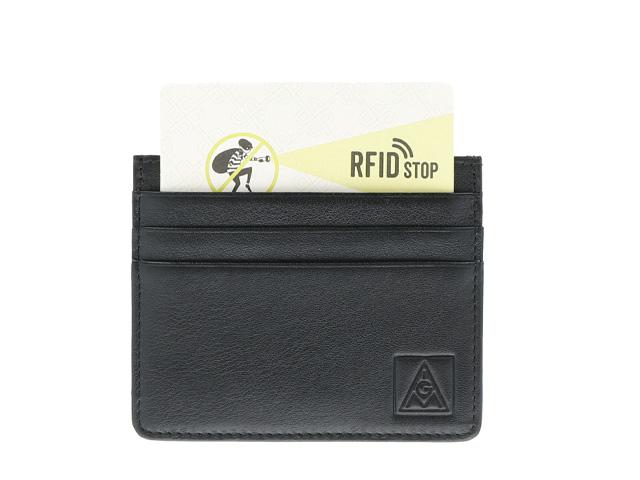 Leder-Kartenetui für 6 Karten mit RFID-Schutz