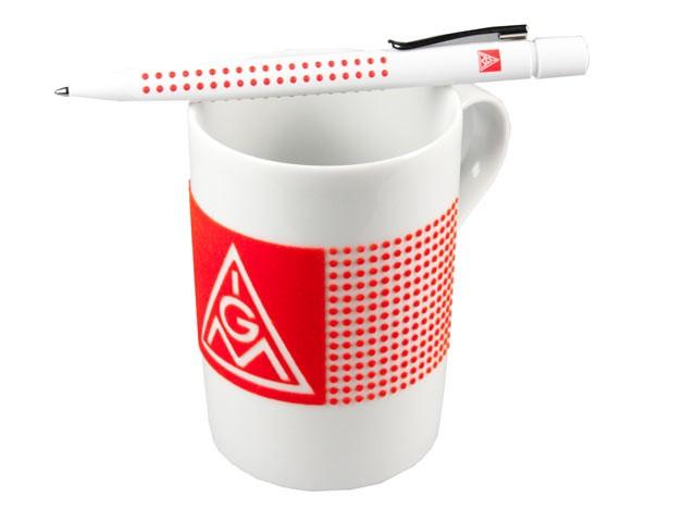"""""""Büroset"""": Tasse mit Kugelschreiber"""